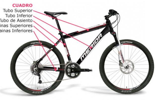 Conoce las partes de una Bicicleta de Montaña