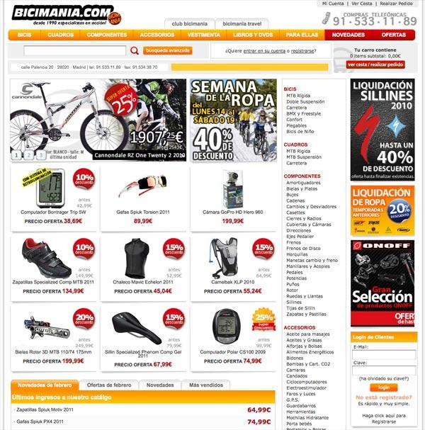 Tiendas online de ciclismo. Bicicletas a golpe de click