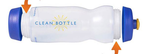 Clean Bottle. Un original e higiénico bidón de hidratación para ciclistas
