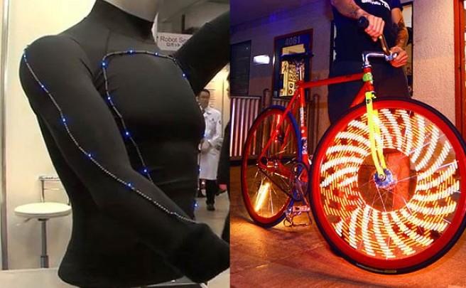 Un futuro muy luminoso: Luces para ruedas MonkeyLectric y ropa iluminada por LEDs ultraflexibles