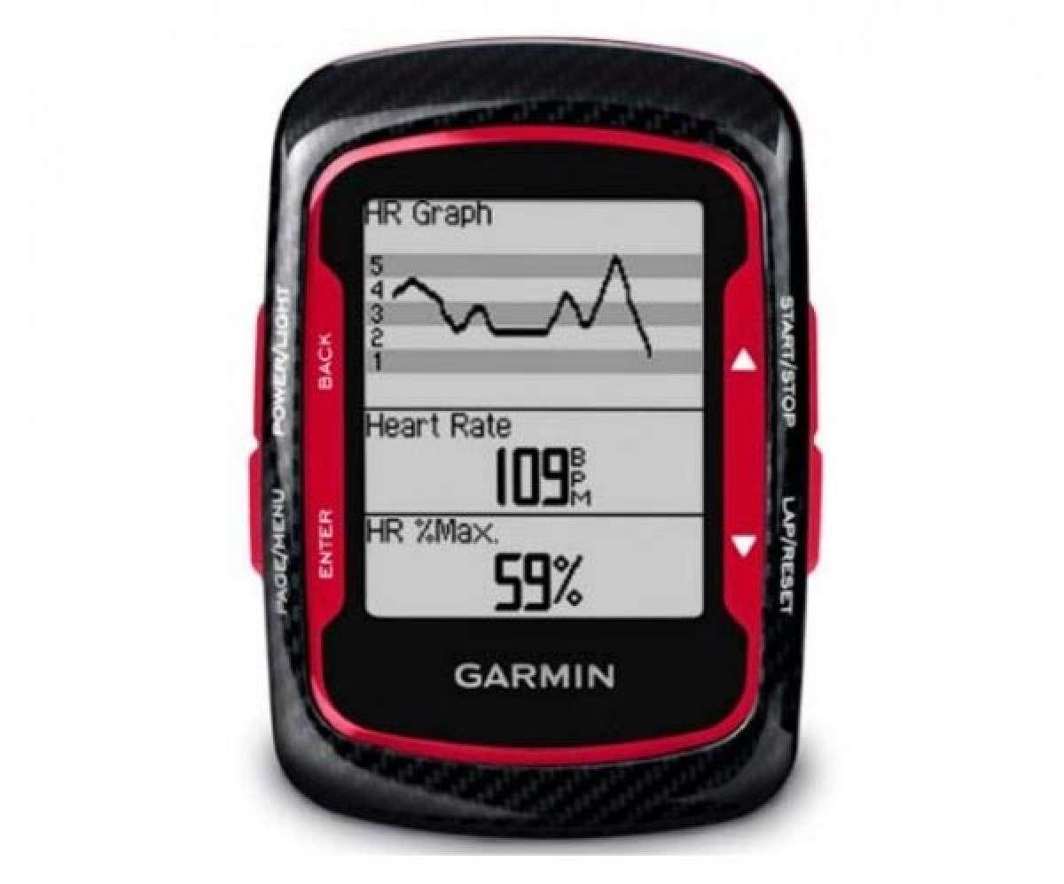 Garmin Edge 500. Nuevo diseño con fibra de carbono y un toque de rojo