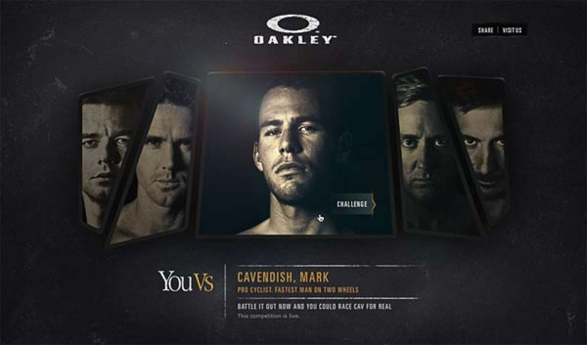 Espectacular campaña de Oakley: You Vs. Mark Cavendish