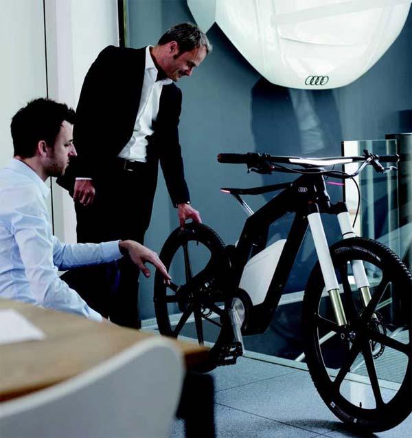 La nueva bicicleta eléctrica de Audi llegada directamente desde el futuro... Ya está aquí