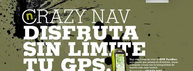 Diferente e impactante: La sorprendente campaña publicitaria 'Crazy Nav' de CompeGPS