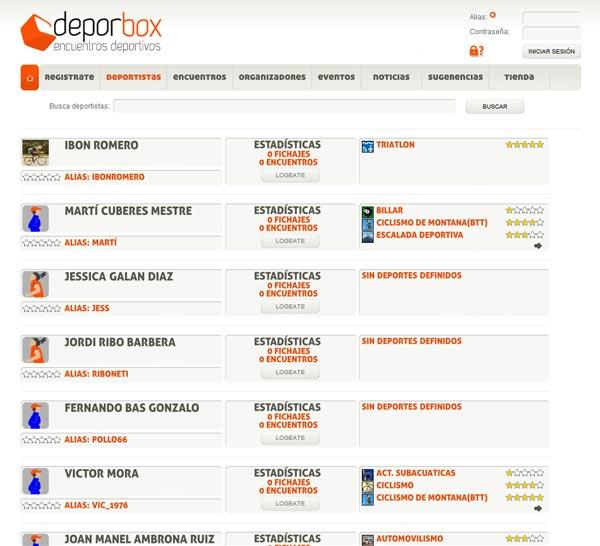 DeporBox, una nueva forma de gestionar e inscribirnos en todo tipo de eventos deportivos