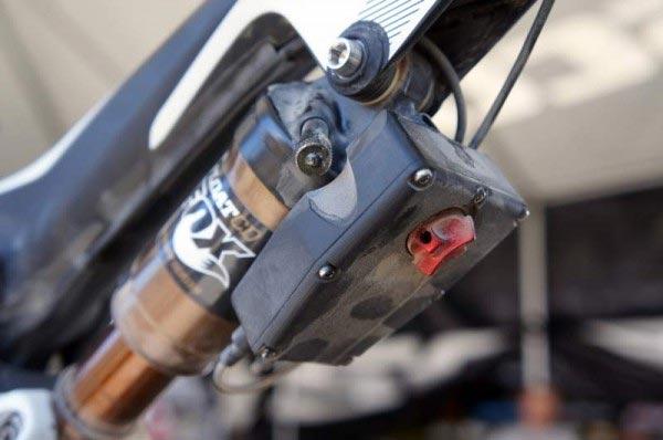 La suspensión electrónica de Fox montada en la Scott Spark 29er del campeón Geoff Kabush