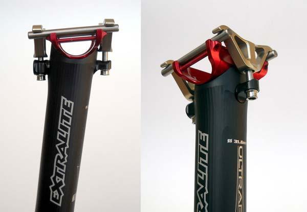 Nueva tija de sillín ExtraLite UltraPost de aluminio... más ligera que el carbono