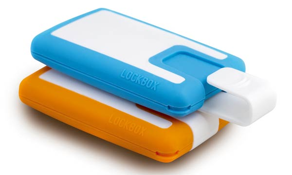 Lockbox, the portable safety box. Una práctica cartera de silicona diseñada para deportistas