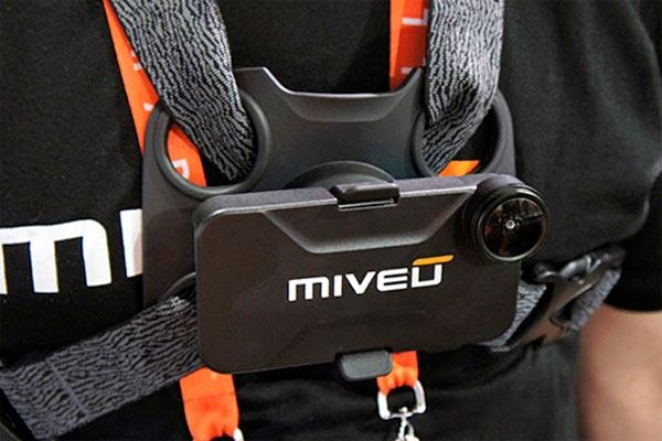 MiVeu, un soporte para transformar nuestro iPhone en una cámara deportiva sobre nuestro pecho