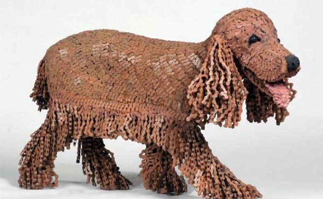 Las increíbles obras de arte con cadenas recicladas de bicicletas de la artista Nirit Levav