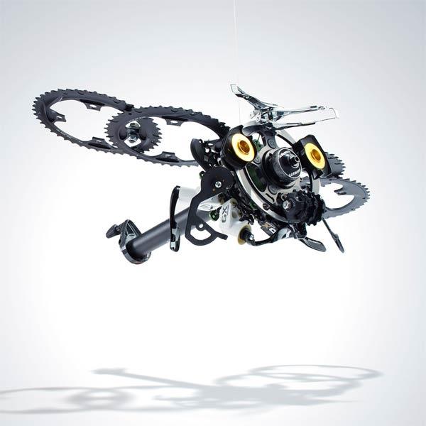 SRAM pART PROJECT: Espectaculares obras de arte realizadas con componentes para bicicletas