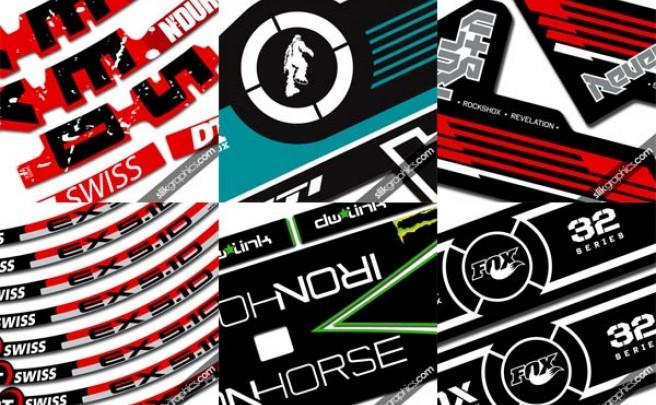 Slik Graphics. Pegatinas de repuesto para horquillas, cuadros, ruedas y protectores