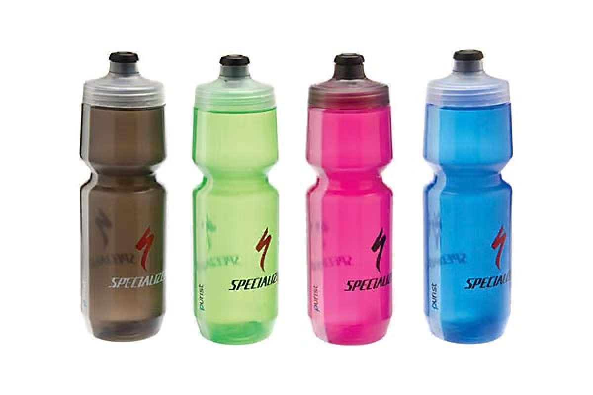 Bidones de hidratación Purist de Specialized. Se acabaron los sabores y olores raros