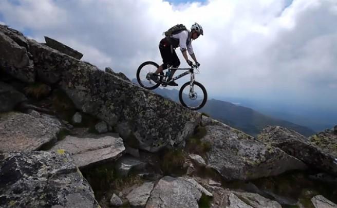 Video: Practicando Mountain Bike en los Montes Tatras (Cárpatos, Eslovaquia)