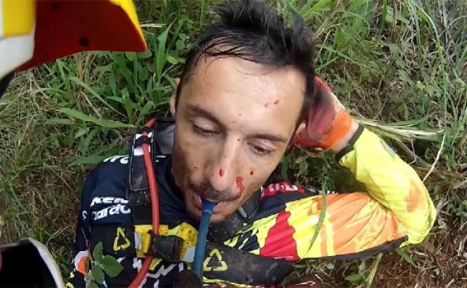 Video: Las imágenes inéditas del brutal accidente de Cédric Gracia en Isla Reunión