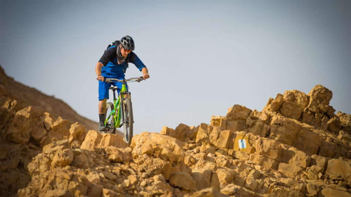Video: Practicando Mountain Bike en el desierto del Néguev (Israel)