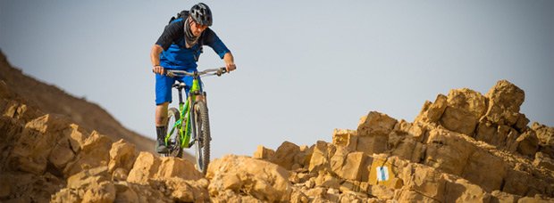 Video: Practicando Mountain Bike en el desierto del Néguev (Israel)
