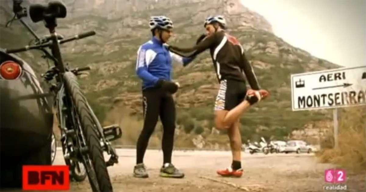 Video: Subiendo a Montserrat en tándem con Berto Romero y Josef Ajram