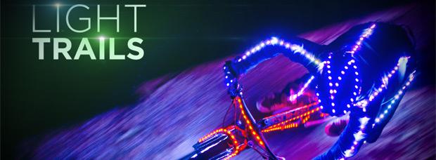 Video: 'Light Trails', una genial combinación de técnica, LEDs y bicicletas