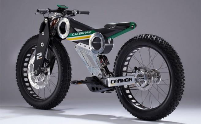La nueva y espectacular bicicleta eléctrica de doble suspensión de Caterham