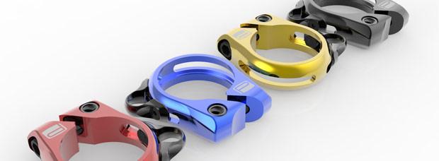 Nuevos y coloridos cierres de Promax con guía integrada ajustable para tijas telescópicas