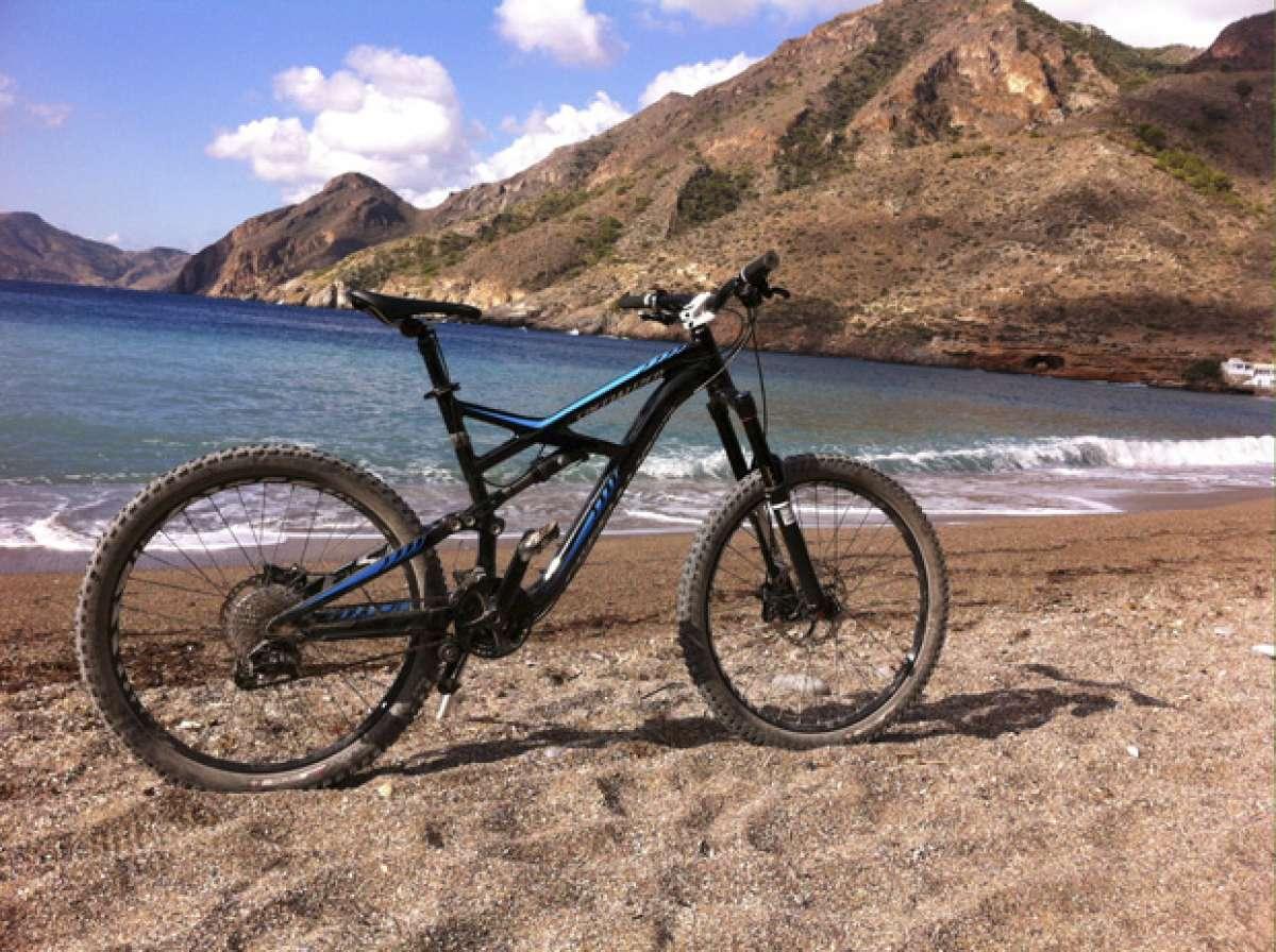 La foto del día en TodoMountainBike: 'La playa del Portús (Cartagena, España)'