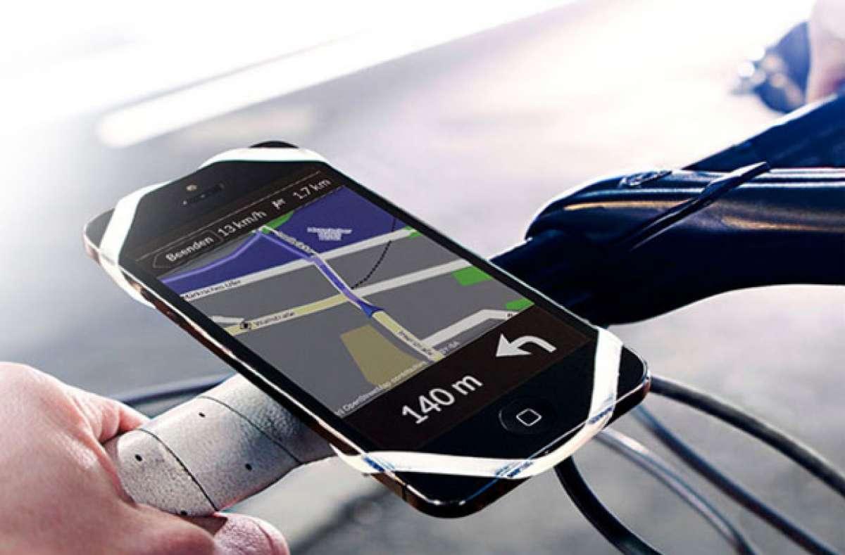 Finn: Un práctico soporte universal para llevar nuestro smartphone en el manillar
