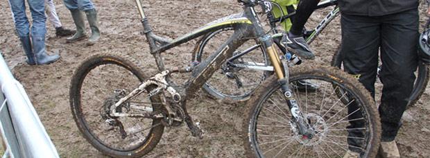 El prototipo de la próxima bicicleta de Enduro con ruedas 650B del fabricante GT
