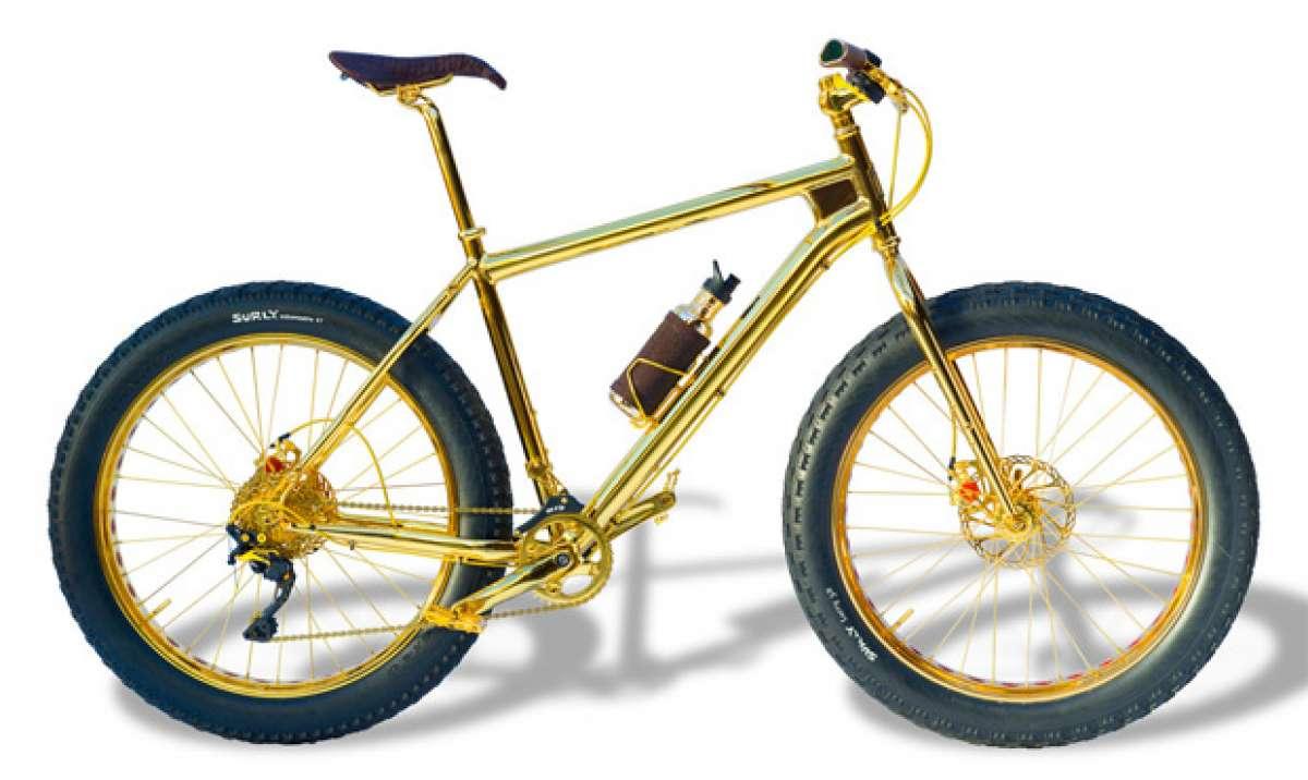 ¿Crisis? Una bicicleta de montaña en oro de 24K y un millón de dólares de precio