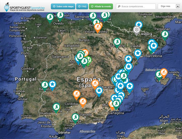 Sportyguest Sports Map: Un mapa interactivo para eventos deportivos al aire libre