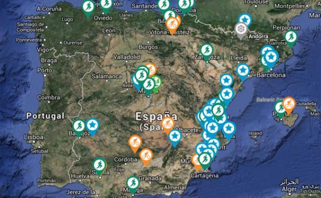 Sportyguest Sports Map: Un mapa interactivo para eventos deportivos al aire libre