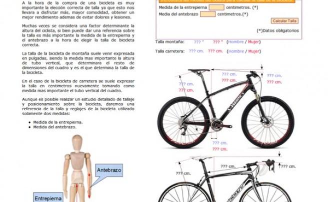 www.tallabicicleta.com: Un sitio web para calcular nuestra talla de bicicleta de montaña y/o carretera