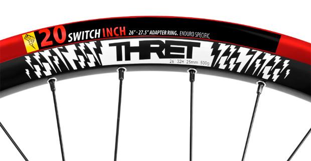 20SwitchInch: Un nuevo adaptador para convertir nuestras llantas de 26 pulgadas en unas funcionales ruedas de 27.5 pulgadas