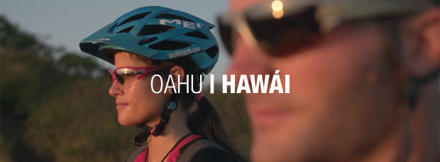 Practicando Mountain Bike en la paradisíaca isla de Oahu (Hawái)
