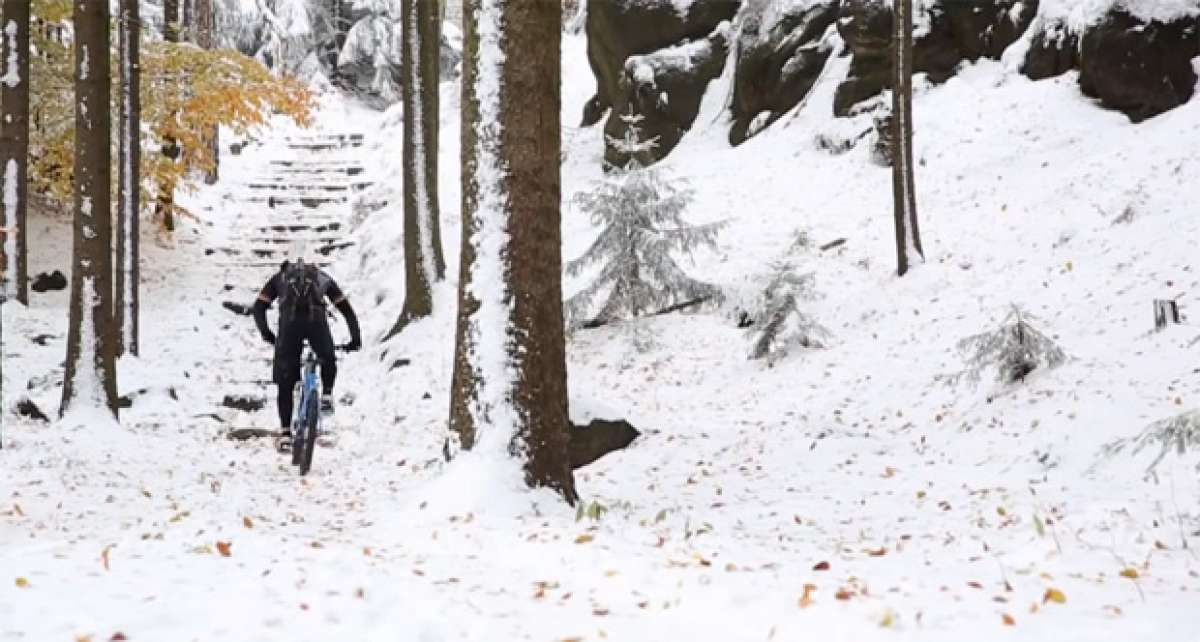Video: Disfrutando del Mountain Bike sobre la nieve con Marco Hösel