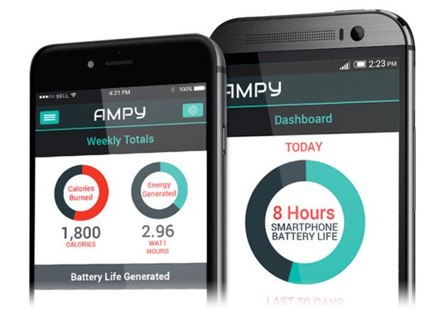 Ampy, una batería portátil que se recarga con nuestro movimiento