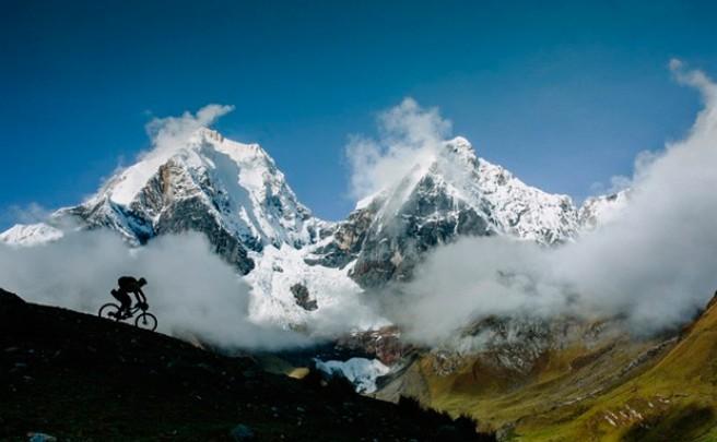 Practicando Mountain Bike en Los Andes (Perú)