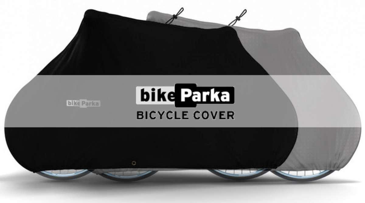 BikeParka, una práctica funda para proteger nuestra bicicleta de las inclemencias del exterior