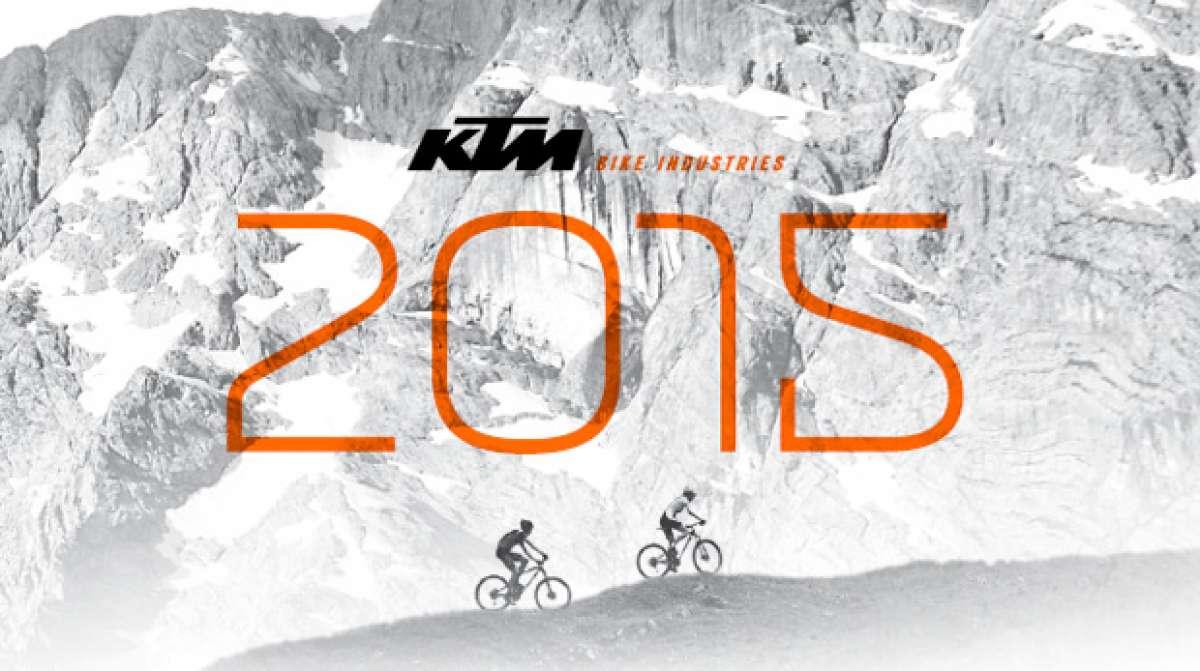Catálogo de KTM 2015. Toda la gama de bicicletas KTM para la temporada 2015