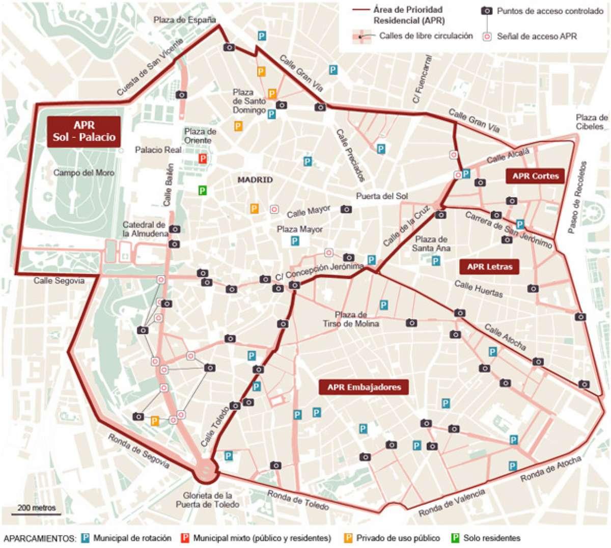El centro de Madrid, cerrado al tráfico a partir de Enero de 2015