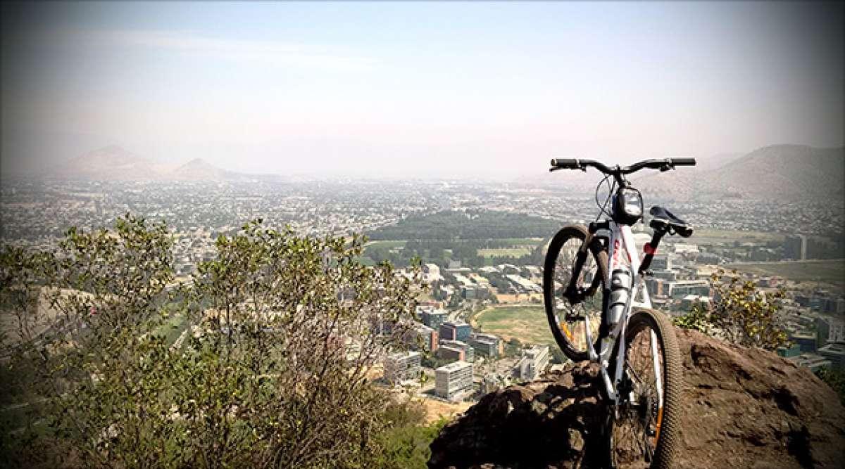 """La foto del día en TodoMountainBike: """"Cerro San Cristóbal (Santiago de Chile)"""""""
