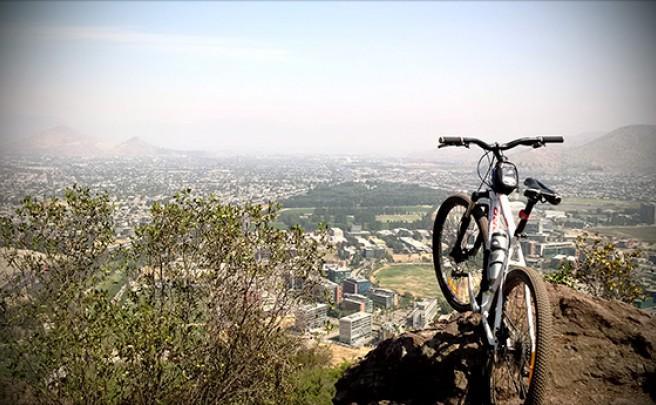 La foto del día en TodoMountainBike: 'Cerro San Cristóbal (Santiago de Chile)'