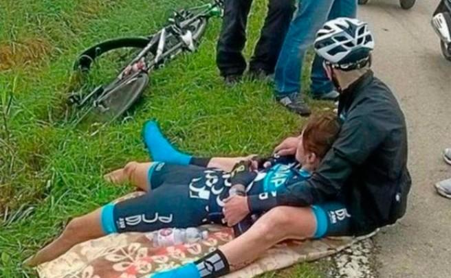 La ciclista austriaca Christiane Koschier-Bitante, herida mientras entrenaba por el disparo de un cazador