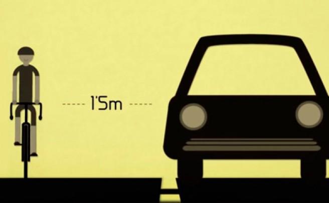 Así nos explica un simpático camionero cómo adelantar a los ciclistas en la carretera