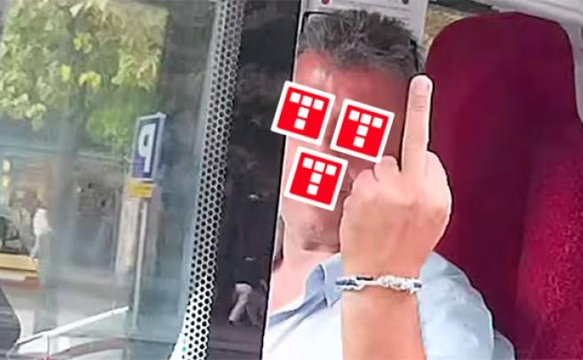 Un conductor de autobús de Zaragoza a punto de arrollar a un ciclista... con gesto despectivo incluido