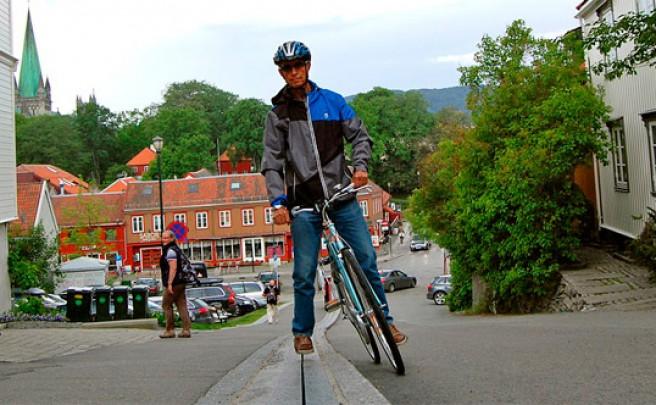 CycloCable, un curioso ascensor-elevador-funicular para los ciclistas de Noruega