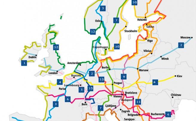 EuroVelo, una enorme red de ciclovías con más de 70.000 kilómetros de ruta