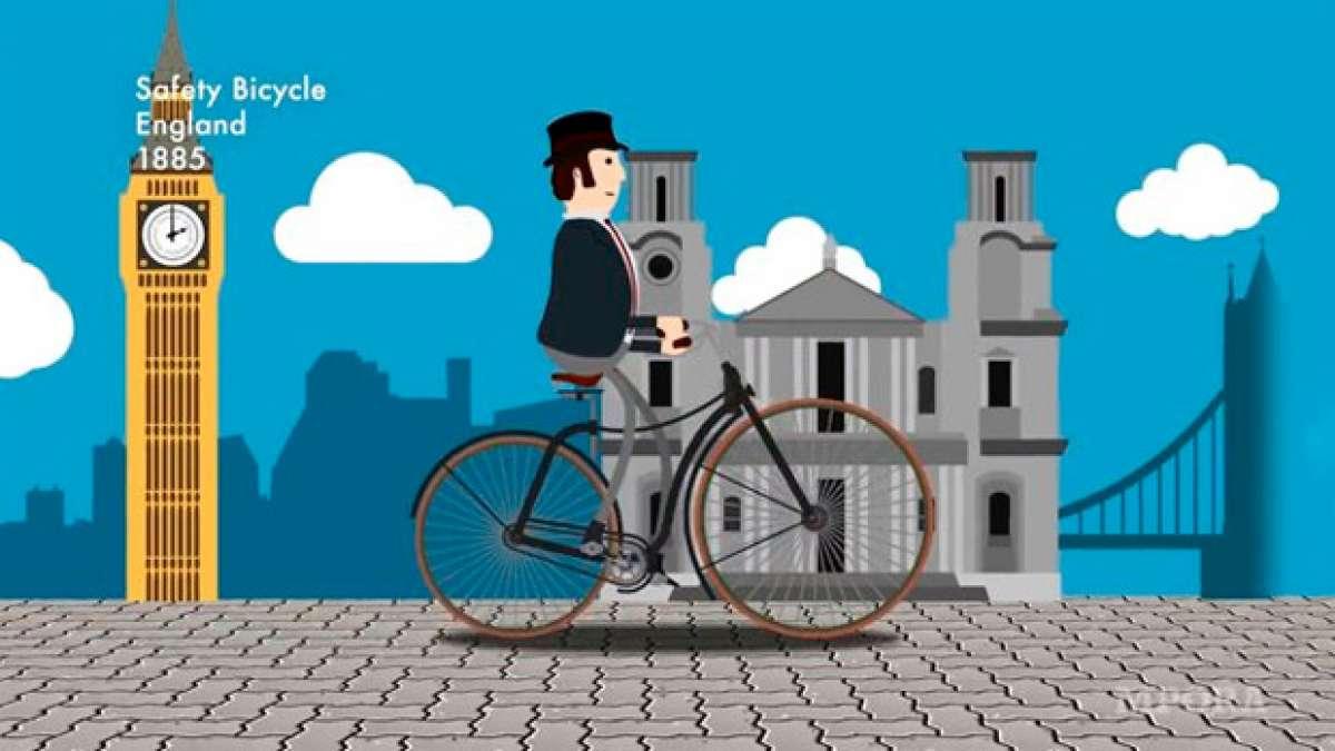 La evolución de las bicicletas, en una fantástica animación