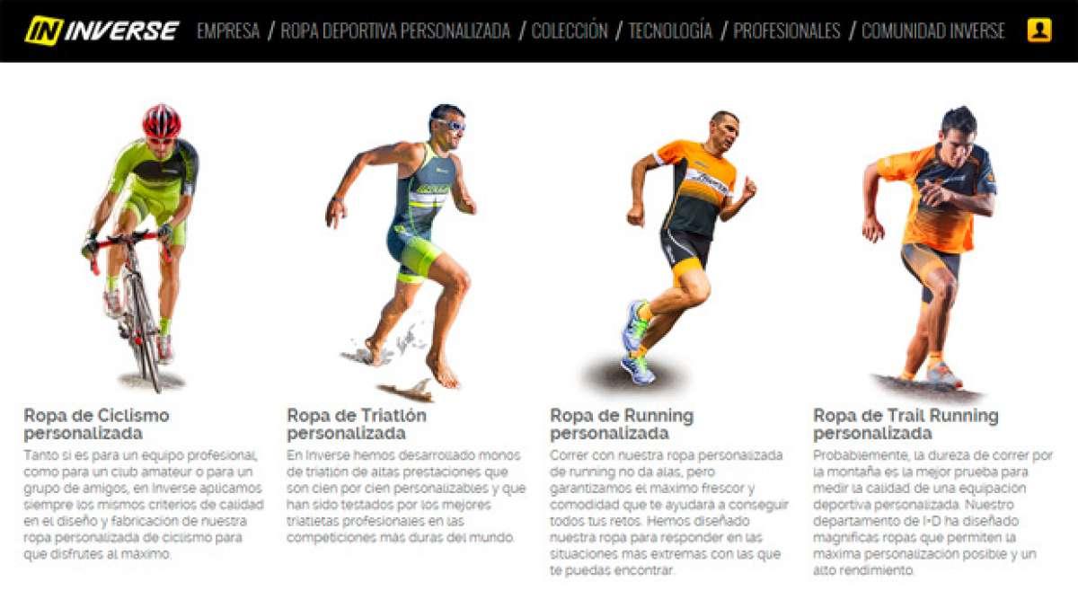 Nueva e innovadora tienda online de ropa personalizada de Inverse para ciclismo, triatlón, running y trail