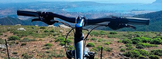 La foto del día en TodoMountainBike: 'Mirando al Campo de Gibraltar'
